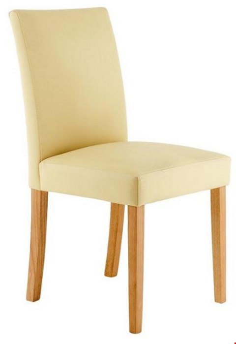 Lot 3537 BOXED NEW PRIMO CREAM AND OAK PAIR OF DINING CHAIRS