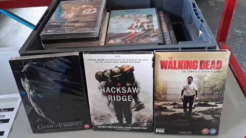 Lot 9069 BOX OF APPROXIMATELY 28 ASSORTED DVD'S INCLUDING HACKSAW RIDGE, THE WALKING DEAD, GAME OF THRONES ETC