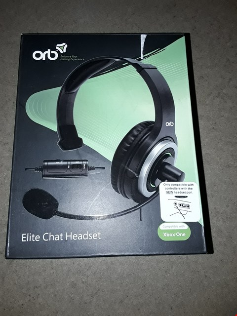 Lot 221 BOXED BRAND NEW ORB ELITE CHAT HEADSET FOR XBOX ONE