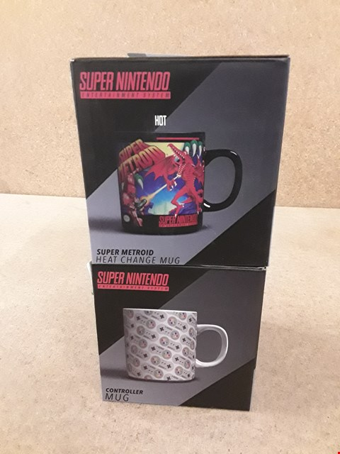 Lot 360 2 BRAND NEW SUPER NINTENDO MUGS