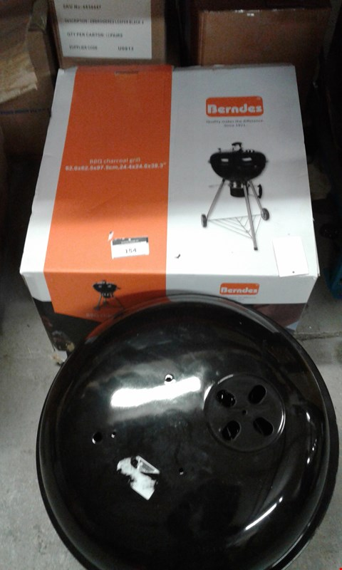 Lot 154 BERNDES BBQ CHARCOAL GRILL AND PARTS