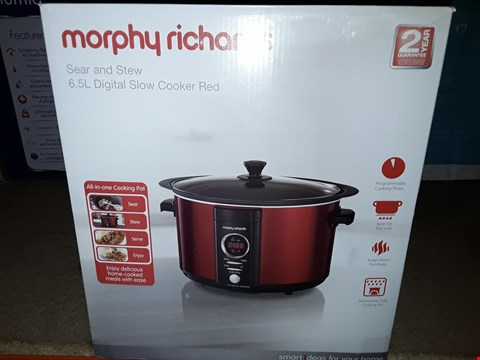Lot 5245 MORPHY RICHARDS SEAR AND STEW DIGITAL SLOW COOKER 6.5L