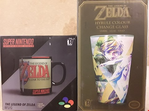 Lot 314 2 BRAND ENABLED ZELDA ITEMS TO INCLUDE GLASS AND MUG