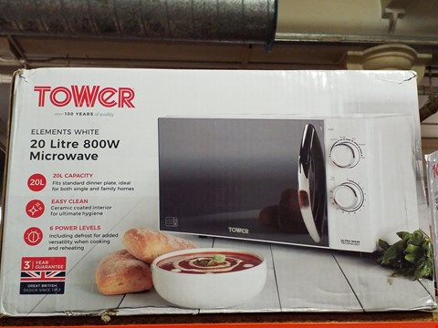 Lot 269 TOWER 800W 20 LITRE MICROWAVE