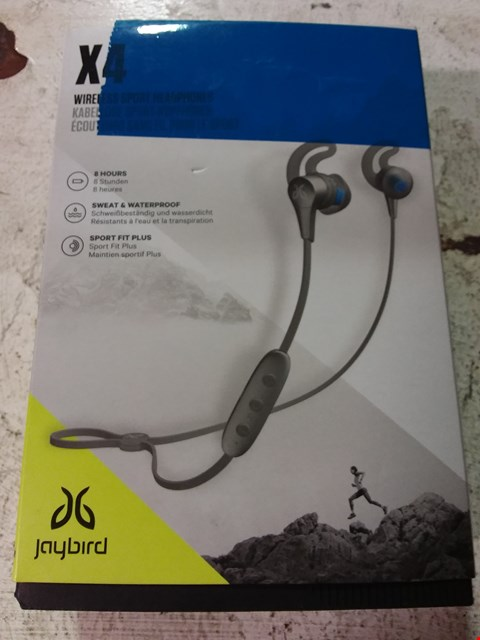 Lot 643 JAYBIRD X4 SPORT AND RUNNING, WIRELESS BLUETOOTH HEADPHONES