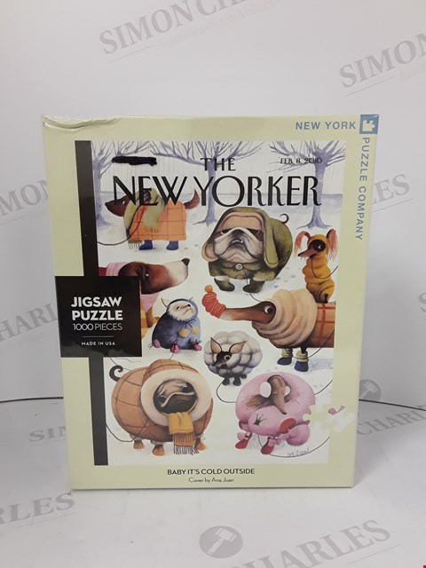 Lot 7181 BOXED SEALED BABY IT'S COLD OUTSIDE THE NEW YORKER JIGSAW PUZZLE