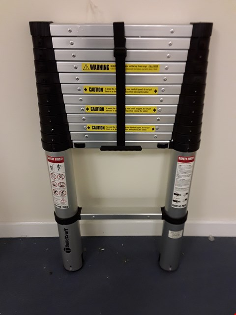 Lot 309 BUILDCRAFT 3.8M TELESCOPIC LADDER