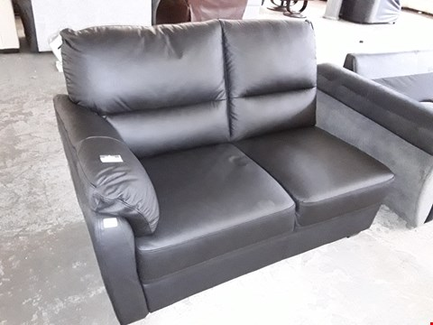 Lot 9 BLACK LEATHER TWO SEATER SECTION