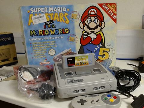 Lot 2053 SUPER NINTENDO ENTERTAINMENT SYSTEM SUPER MARIO ALL STARS PLUS SUPER MARIO WORLD