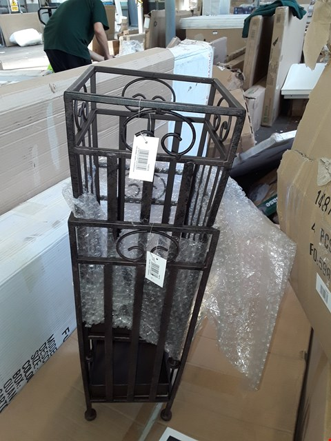 Lot 7264 LOT OF 2 ANTIQUE BROWN GARDEN PLANTERS