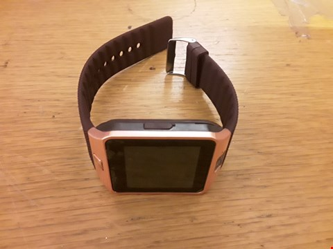 Lot 6136 ROSE/GOLD SMART WATCH WITH MAROON STRAP