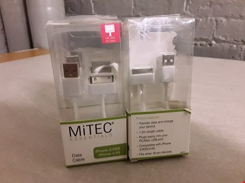 Lot 4175 LOT OF 4 MITEC ESSENTIALS DATA CABLES FOR IPHONE 3&4