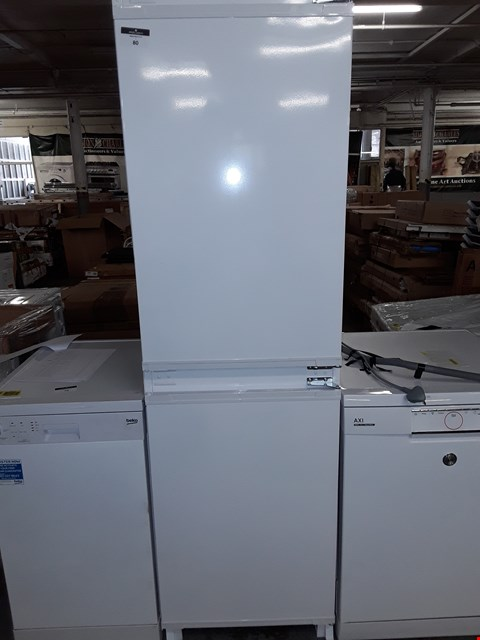 Lot 80 BEKO INTEGRATED COMBI FRIDGE FREEZER RRP £311