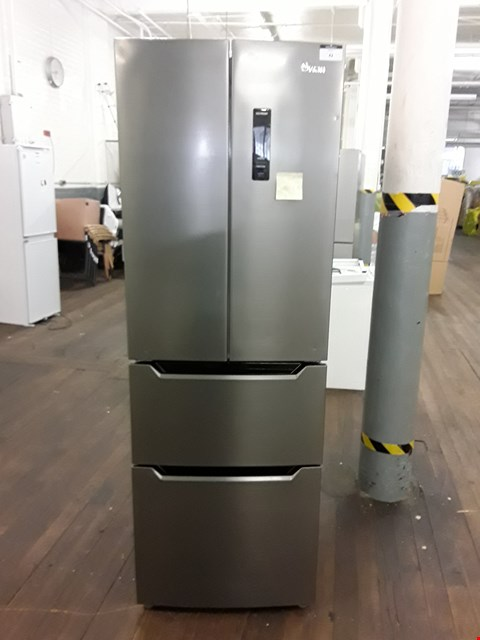 Lot 42 SWAN STAINLESS STEEL AMERICAN STYLE FRIDGE FREEZER
