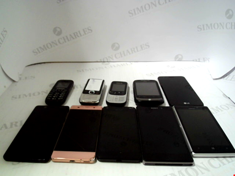 Lot 648 LOT OF APPROXIMATELY 10 ASSORTED MOBILE PHONES AND SMARTPHONES TO INCLUDE SONY, NOKIA ETC
