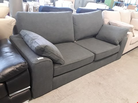 Lot 13 QUALITY BRITISH DESIGNER CHARCOAL FABRIC NANTUCKET 3 SEATER SOFA