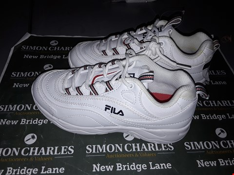 Lot 9020 FILA FOOTWEAR IN WHITE  UK SIZE 1