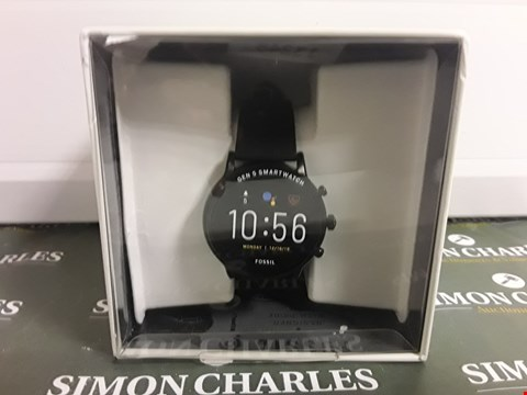 Lot 2349 FOSSIL GEN 5 FULL DISPLAY BLACK SILICONE STRAP SMART WATCH  RRP £359.00