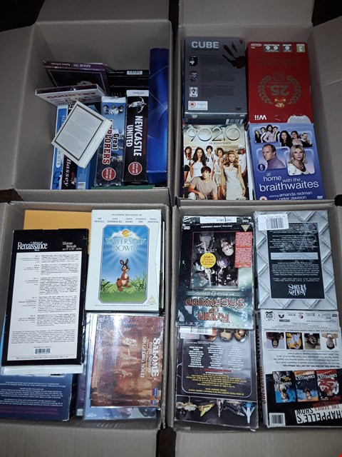 Lot 4367 4 BOXES OF ASSORTED MEDIA ITEMS TO INCLUDE DIE HARD,FATHER TED AND BAND OF BROTHERS