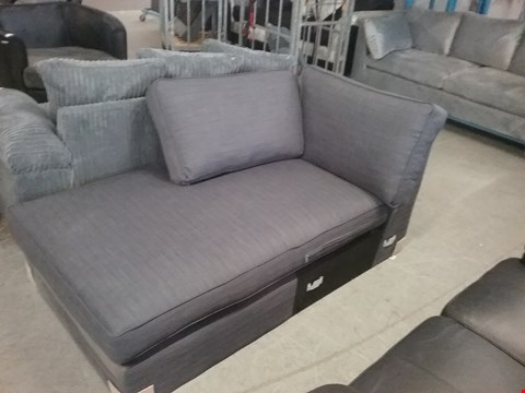 Lot 121 GREY FABRIC CORNER SOFA (CORNER SECTION ONLY)