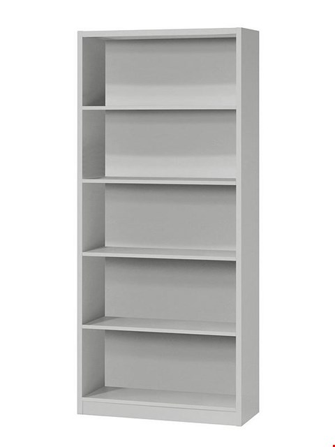 Lot 3563 BOXED METRO GREY TALL WIDE EXTRA DEEP BOOKCASE