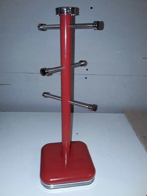 Lot 117 ACCENTS MUG TREE POLE IN RED RRP £34.99