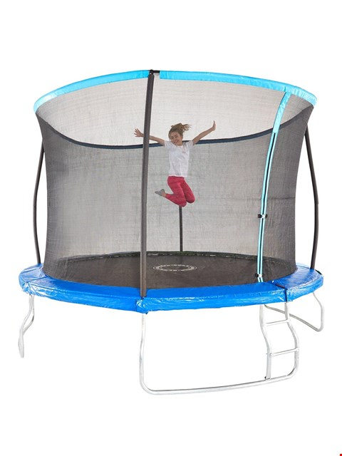 Lot 6002 SPORTSPOWER 10FT TRAMPOLINE WITH EASI-STORE FOLDING ENCLOSURE  RRP £189.99
