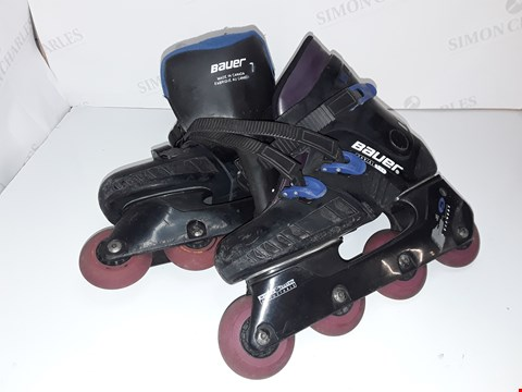 Lot 5358 PAIR OF BAUER SIZE 7 IN LINE ROLLER SKATES