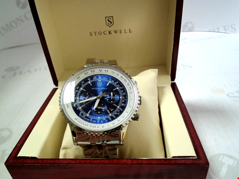 Lot 3303 DESIGNER STOCKWELL AUTOMATIC WATCH WITH AM/PM MOONPHASE INDICATOR RRP £750.00