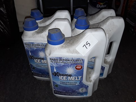 Lot 75 LOT OF 5 3KG TUBS OF EXTREME ICE MELT