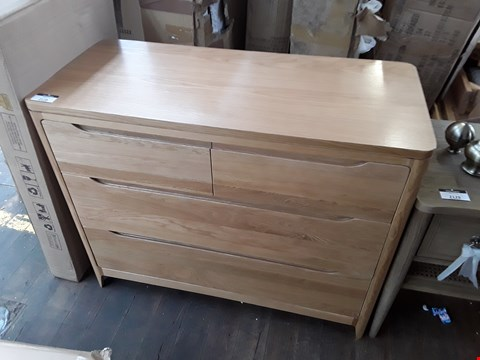 Lot 2128 REAL WOOD 2 OVER 2 DRAWER COMPACT SIDEBOARD