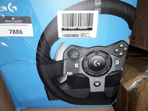 Lot 7886 G920 DRIVING FORCE RACING WHEEL WITH PEDALS AND FORCE SHIFTER FOR XBOX & PC RRP £200.00