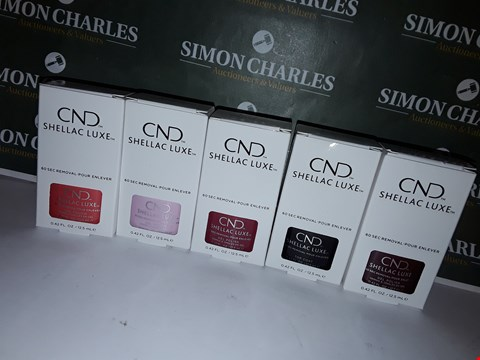 Lot 35 LOT OF 5 ASSORTED BOXED CND SHELLAC LUXE NAIL PRODUCTS