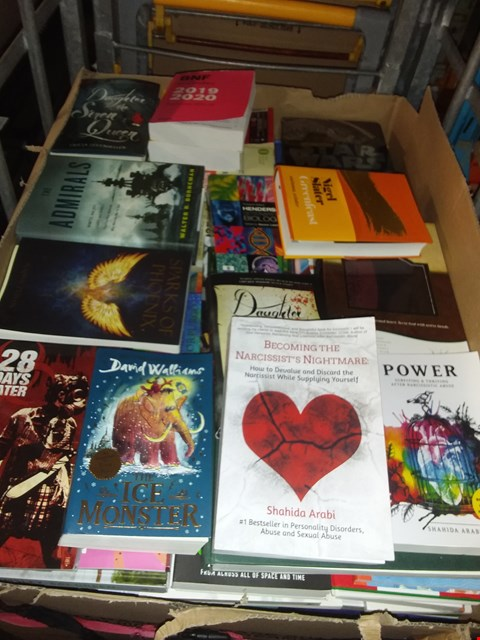 Lot 2693 CAGE OF ASSORTED BOOKS TO INCLUDE DAVID WILLIAMS THE ICE MONSTER, EDUCATIONAL TEXTS AND STAR WARS BOOK OF THE FILM