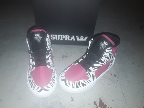 Lot 2146 LOT OF 4 BRAND NEW SUPRA TODDLER PINK/ZEBRA WHITE BOOTS SIZE 7 RRP £100