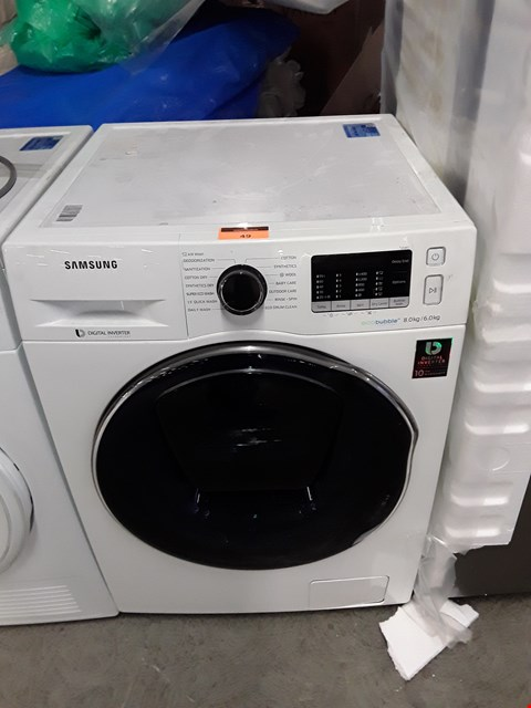 Lot 49 SAMSUNG ECOBUBBLE ADDWASH 8/6KG WASHER DRYER  RRP £749.00