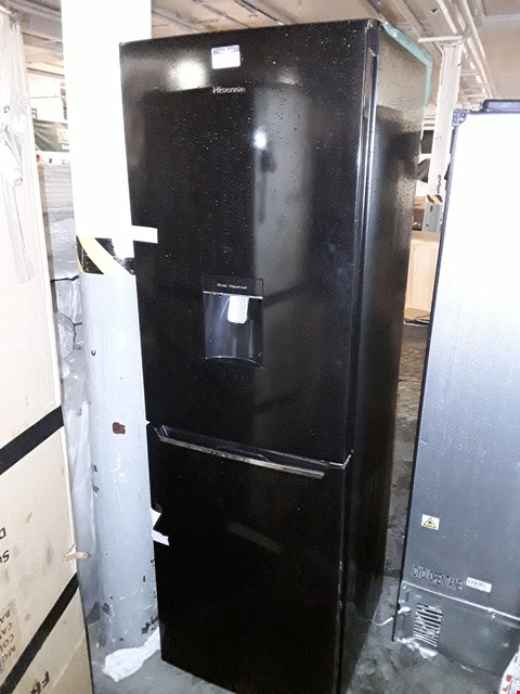 Lot 10061 HISENSE RB381N4WB1 60CM WIDE TOTAL NON FROST FRIDGE FREEZER WITH WATER DISPENSER - BLACK