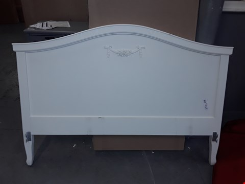 Lot 12146 DESIGNER WHITE PAINTED WOOD HEADBOARD APPROXIMATELY 160CM