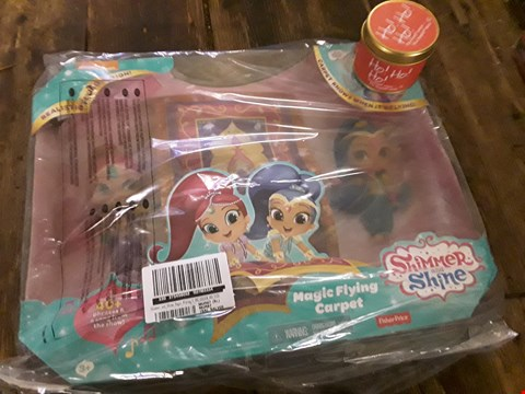 Lot 6236 LOT OF 2 ASSORTED GRADE 1 ITEMS INCLUDES LILY-FLAME HO HO HO CANDLE AND SHIMMER & SHINE MAGIC FLYING CARPET  RRP £54