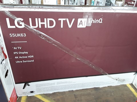 "Lot 1076 LG 55"" UHD THINQ 4K ACTIVE HDR TELEVISION MODEL 55UK6300PLB"
