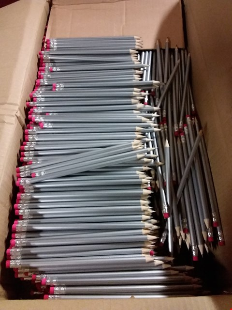 Lot 353 BOX OF APPROXIMATELY 1300 SILVER PENCILS WITH RUBBER END RRP £549.00