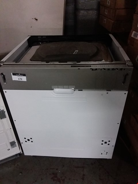 Lot 172 CATA IDW60M INTEGRATED FULL SIZE DISHWASHER IN WHITE