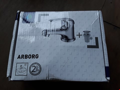 Lot 82 BOXED ARBORG SINGLE LEVER BASIN MIXER TAP WITH POP UP WASTE