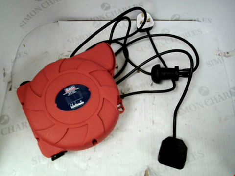 Lot 11056 SEALEY CRM101 CABLE REEL SYSTEM RETRACTABLE 10M