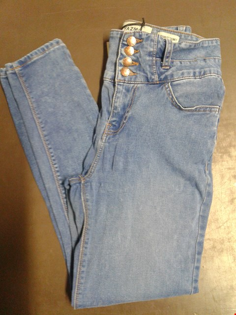 Lot 87 YAZMIN HIGH WAIST MEDIUM DENIM 4 BUTTONED SKINNY JEANS UK SIZE 10