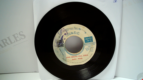 """Lot 18088 LOT OF APPROXIMATELY 9 ASSORTED 7"""" VINYL SINGLES TO INCLUDE JUSTIN HINDS, ANSEL COLLINS, KEN BOOTHE ETC"""