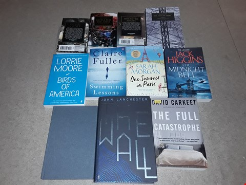 Lot 503 LOT OF APPROXIMATELY 11 ASSORTED BOOKS TO INCLUDE THE MIDNIGHT BELL BY JACK HIGGINS, SWIMMING LESSONS BY CLAIRE FULLER, BIRDS OF AMERICA BY LORRIE MOORE ETC