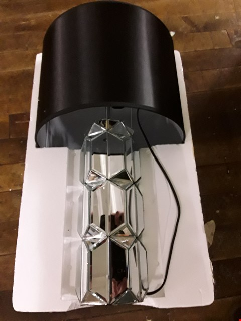 Lot 8131 JULIEN MACDONALD FACETED LAMP WITH BLACK SHADE