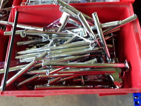 Lot 2023 BOX OF METAL RAILING FITTINGS