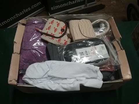 Lot 2067 LOT OF APPROXIMATELY 17 ITEMS INCLUDING 6 PAIRS OF LADIES SLIM LEG CARGO TROUSERS, 3 MERMAID BLANKET, 7 HANDBAGS AND A WIG